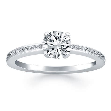 classic pave diamond band engagement ring mounting in 14k white gold richard cannon jewelry