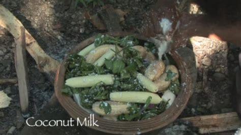 indigenous recipe wild coconut creme tulip  poached