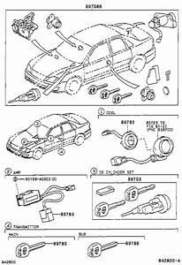 2000 Toyota Avalon Coil  Transponder Key  Electrical