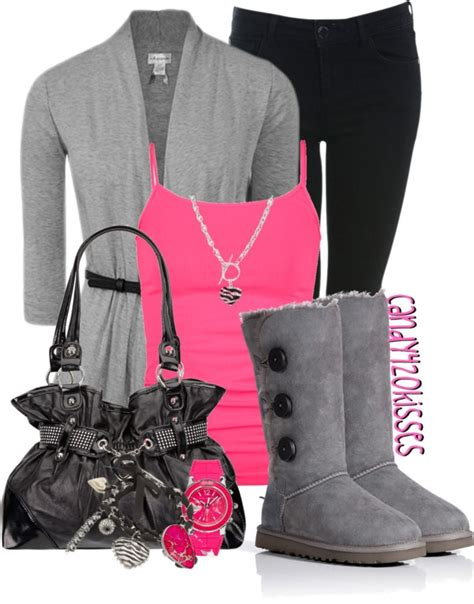 U0026quot;Untitled #297u0026quot; by candy420kisses liked on Polyvore | Jeans with Uggs | Pinterest | Grey Pretty ...