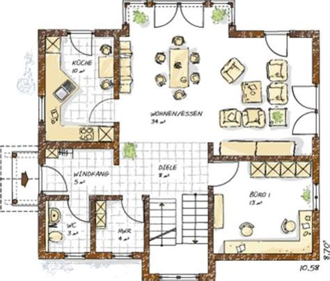 haus grundriss ideen einfamilienhaus
