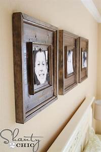 how to make picture frames DIY Wall Art ~ $15 Wooden Frames - Shanty 2 Chic