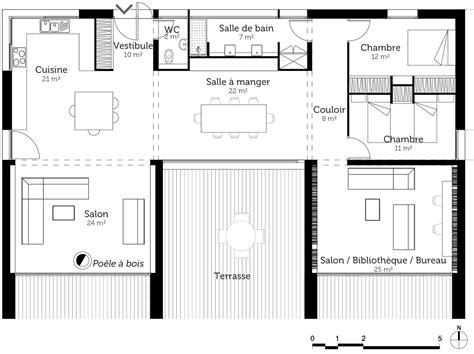 un cour de cuisine plan de maison en u avec terrasse ooreka