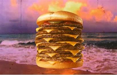 Burger Eating Cheeseburgers Sunset Gifs Cheeseburger National