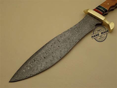 damascus steel kitchen knives professional damascus bowie knife custom handmade damascus