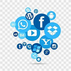 Blue social media icons Vector | Free Download