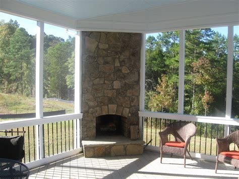 Screened Patio Designs by Sun Porch Design Ideas Outdoor Fireplace Integrated