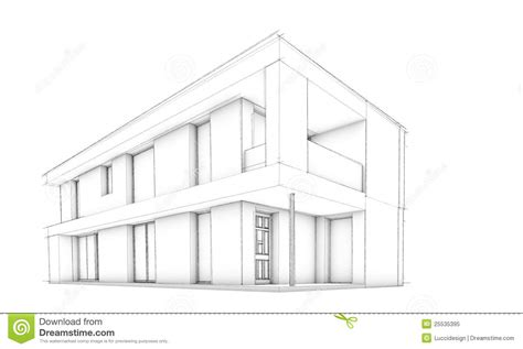 Modernes Haus Zeichnen by House Drawing Easy Home Building Sketch Ilration Stock