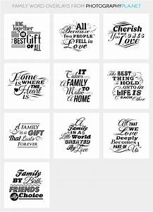 Family Overlays, Photo Overlays, Word Overlays | Family ...