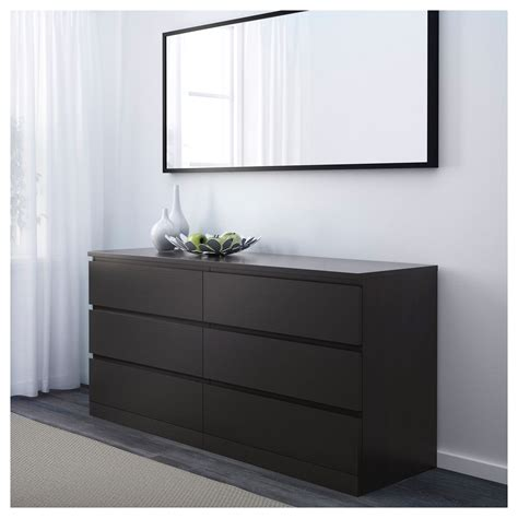 Ikea Malm Dresser - ikea malm 6 drawer dresser black brown in 2019