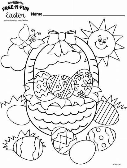 Coloring Easter Basket Pages Oriental Trading Happy