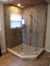 great small space corner shower How can corner shower save space?   Bath Decors