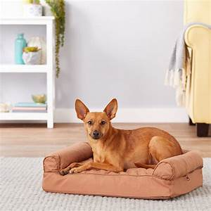 Furhaven, Quilted, Orthopedic, Sofa, Dog, U0026, Cat, Bed, Small, Warm, Brown