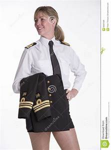 Woman Navy Officer In Her Uniform Stock Photo - Image ...