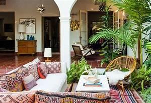 decoration terrasse d39esprit boheme 25 idees originales With attractive idee deco terrasse jardin 8 deco salon et cuisine ouverte