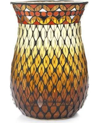 deal alert stained glass mosaic hurricane jar candle