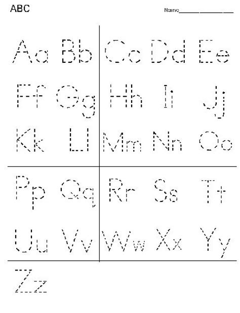 printable alphabet letter tracing worksheets alphabet