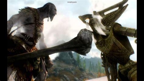 giants  dwarven centurions skyrim youtube