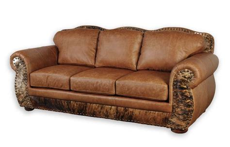 western leather sofa western leather furniture rustic