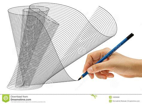 Mit Bleistift In Der Hand Zeichnen Lizenzfreie Stockbilder