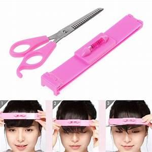 Women Girl Fashion Clipper Fringe Hair Cutting Guide Layer