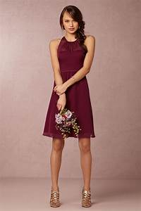 georgina bridesmaids dress in black cherry from bhldn With what color shoes to wear with black dress to wedding