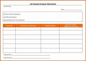 job hazard analysis form general resumes With job hazard assessment template