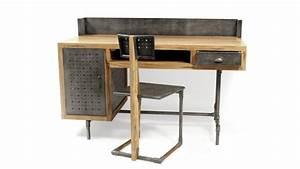 Bureau Style Industriel : bureau belfast de style industriel en bois et m tal mobilier moss ~ Teatrodelosmanantiales.com Idées de Décoration