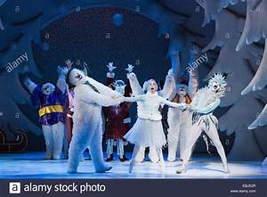 Children's Christmas and winter show The Snowman performed at the Stock Photo, Royalty Free