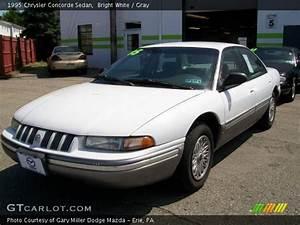 Bright White - 1995 Chrysler Concorde Sedan - Gray Interior
