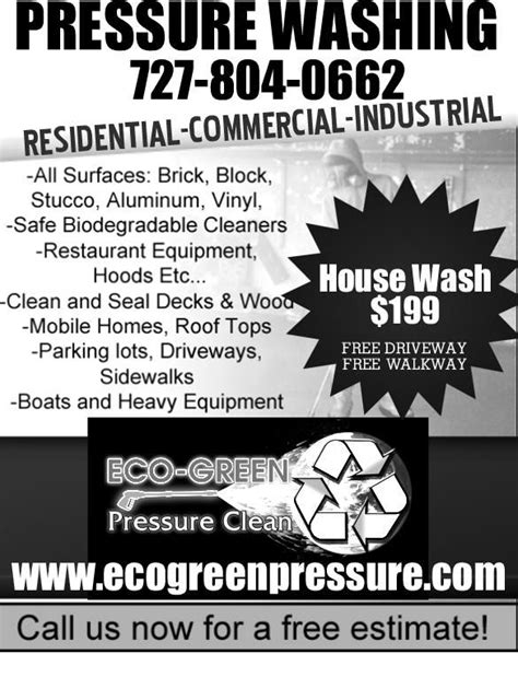 pressure washing flyers ecogreenpressure flyer
