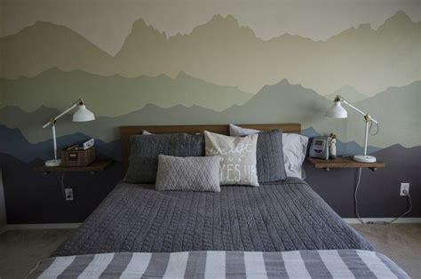 Schlafzimmer Le Selber Machen by Wandgestaltung Farbe Muster Gebirge Wandgem 228 Lde Selber