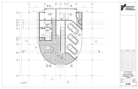 villa savoye revit construction documentation  philau