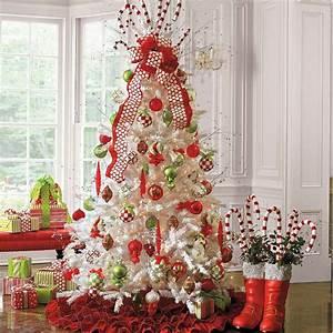 Weihnachtsbaum Rot Weiß : amerikanische weihnachtsdeko weihnachtsbaum weiss kunststoff gruen rote kugel zusammen mit wei ~ Yasmunasinghe.com Haus und Dekorationen