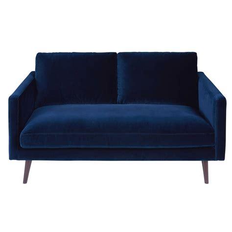 tapis chambre bébé bleu canapé 2 places en velours bleu nuit kant maisons du monde