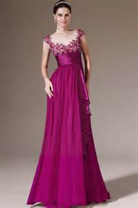 dresses for formal wedding newest style cap sleeves appliques empire sash purple formal dress wedding dress
