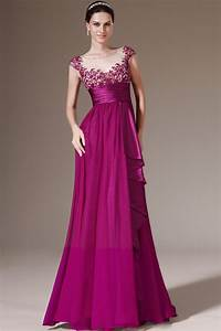 Newest style cap sleeves appliques empire sash purple for Formal dresses for weddings