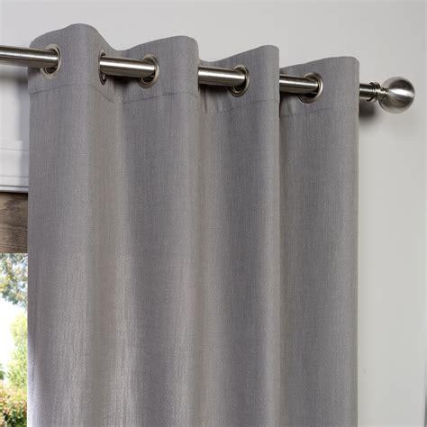 buy pewter grey grommet heavy faux linen curtain