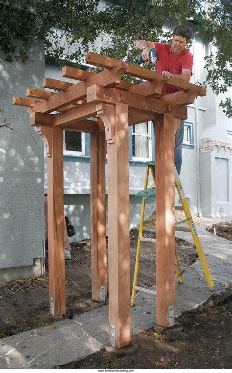 build  craftsman style pergola pergola outdoor pergola