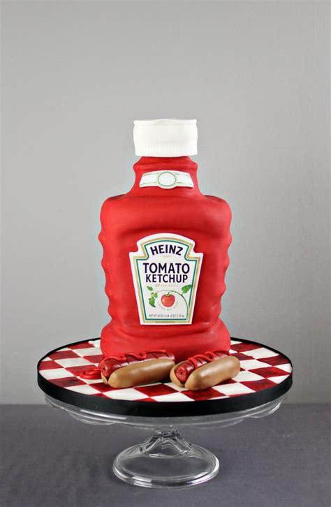 Ketchup Cake :) | Novelty cakes, Fondant cake designs ...