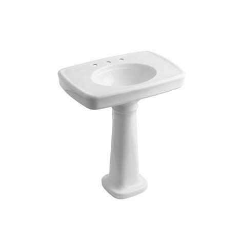 Kohler Bancroft Single Pedestal Sink by Kohler Bancroft Vitreous China Pedestal Combo Bathroom