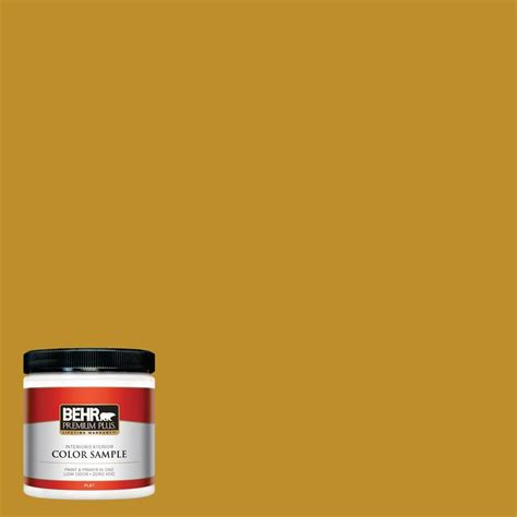 behr premium plus 8 oz 360d 7 brown mustard flat