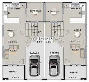 6, Bedroom, Modern, Duplex, Plan, House, Plan