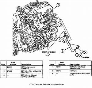 Where Is The Egr Valve Located On A 1995 Ford Aerostar