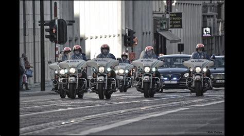 harley davidson police motorcycles escorte koning filip