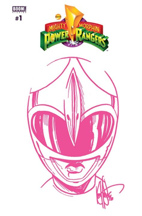 dynamic forces mighty morphin power rangers  limited edition blank   sketch edition