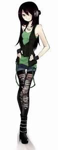 Anime rocker girl | anime rocker chic | Pinterest | Girls ...