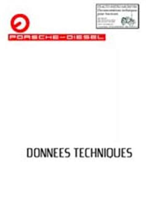 revue technique manuel et notice entretien pour tracteur porsche allgaier