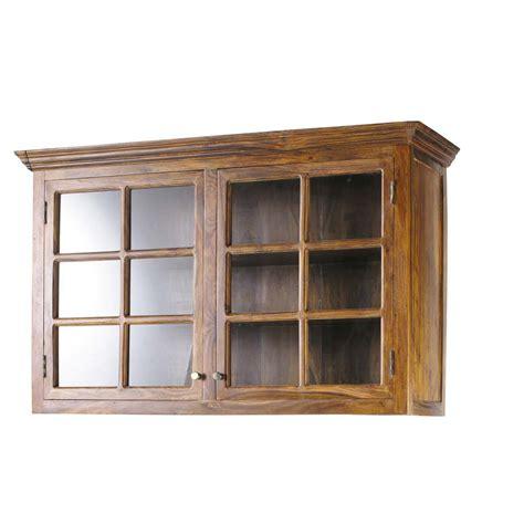 meuble haut cuisine bois meuble haut de cuisine en bois de sheesham massif l 120 cm