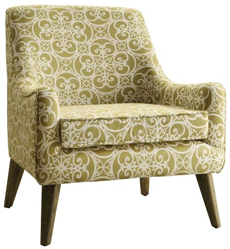 green and white fabric accent chair from coaster 902478